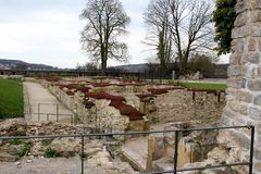 Une vue plus étroite sur la structure établie a observé du sparrenburg à Bielefeld Allemagne images libres de droits