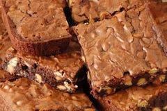 Une vue plus proche des 'brownie' cuits au four frais Photos libres de droits