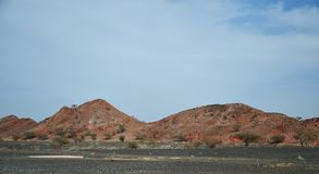 Une vue scénique fascinante les montagnes Image stock