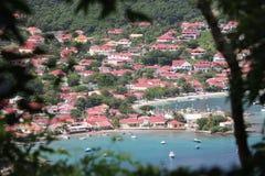 Une vue superbe ? la baie du Saintes en Guadeloupe photos libres de droits