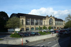 Une vue sur la gare de Hambourg Images stock