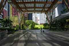 Une vue sur la région financière de secteur de Singapour photographie stock libre de droits