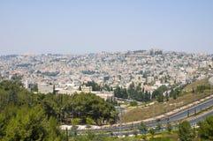 Une vue sur Nazareth Photos libres de droits