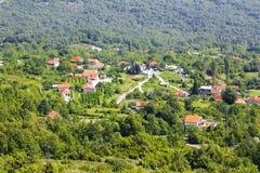 Une vue sur un petit village Photo libre de droits