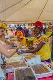 Une vue typique à Carthagène en Colombie photo libre de droits