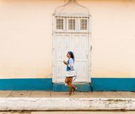 Une vue typique au Trinidad au Cuba images stock