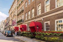 Une vue typique dans Mayfair photos stock