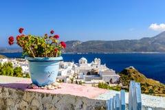 Une vue typique de Cycladic photos stock