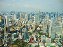une vue vers Tokyo de la tour image libre de droits