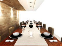 Une zone dinning moderne Photographie stock