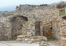 Some of the Restored Ruins of Ancient Ephesus in Turkey royalty free stock images