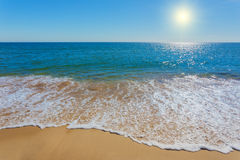 Unearthly beach with clear waters. Stock Photos