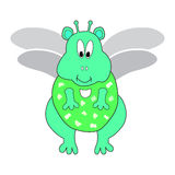 Unearthly existence character cartoon. Magic unearthly existence with wings and antenna Royalty Free Stock Photos