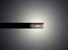 Uneasy glance Stock Photography