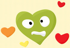 Uneasy Heart Face Stock Photo