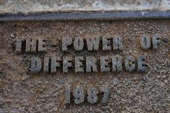 *unedited* o poder da diferença 1987 fotografia de stock royalty free