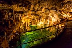 Uneground See in der Höhle Lizenzfreie Stockbilder