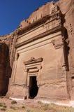 Uneishu Tomb. Petra, Jordan. Stock Photos