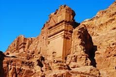 Uneishu Tomb on the Street of Facades in Petra, Jordan Stock Photos