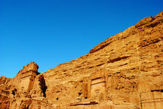 Uneishugraf op de Straat van Voorgevels in Petra, Jordanië stock foto's