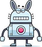 Unemotional Cartoon Robot Rabbit Stock Images