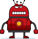 Unemotional Red Robot Royalty Free Stock Photography