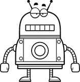 Unemotional Red Robot Stock Images