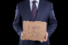 Unemployed businessman Stock Photography