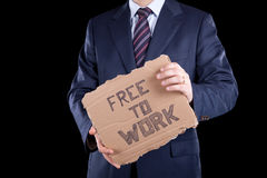 Unemployed businessman Royalty Free Stock Photos
