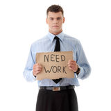 Unemployed businessman Royalty Free Stock Photo