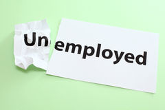 Unemployed change to Employed Royalty Free Stock Image