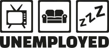 Unemployed icons - tv, sofa, sleep Stock Photography