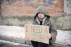 Unemployed man Royalty Free Stock Photos