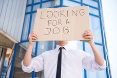 Unemployed man royalty free stock image