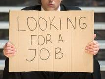 Unemployed man Royalty Free Stock Image