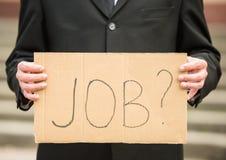 Unemployed man Royalty Free Stock Photography