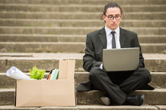 Unemployed man Stock Images
