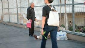 Unemployed man, Las Vegas Strip, Nevada, USA, stock video footage
