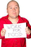 Unemployed man with poster Royalty Free Stock Photo