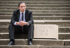 Unemployed man Royalty Free Stock Photos