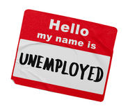Unemployed Name Tag Stock Images