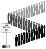 Unemployed people queuing vector illustration