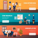 Looking For Job Banners royalty free illustration