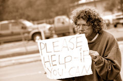 Unemployed Person in Need. Person Unemployed Trying to Make Ends Meet Royalty Free Stock Photography