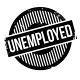 Unemployed rubber stamp Royalty Free Stock Photography