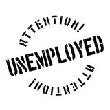 Unemployed rubber stamp Stock Photos