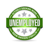 Unemployed Stamp illustration design Stock Images