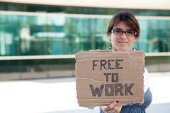 Unemployed woman Royalty Free Stock Image
