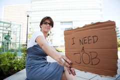 Unemployed woman Stock Photography