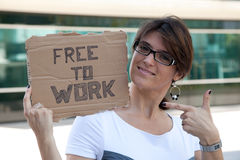 Unemployed woman Royalty Free Stock Photos
